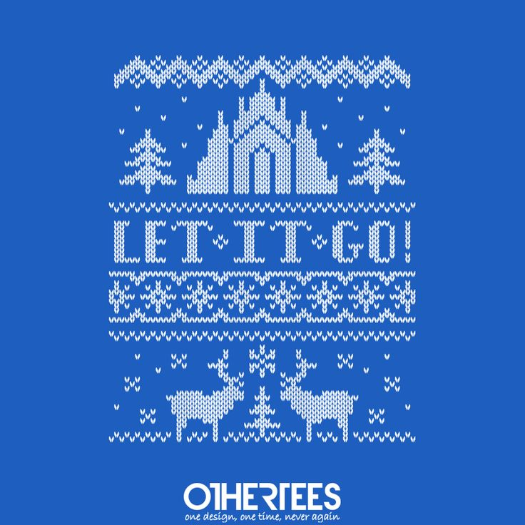 """Let It Go Sweater"" by moysche T-shirts, Tank Tops, Sweatshirts and Hoodies are on sale until 15th November at www.OtherTees.com Check out our Holiday Fest ! We've got five Christmas designs on sale at our shop! Pin it for a chance at a FREE TEE #letitgo #frozen #disney #othertees #waltdisney"