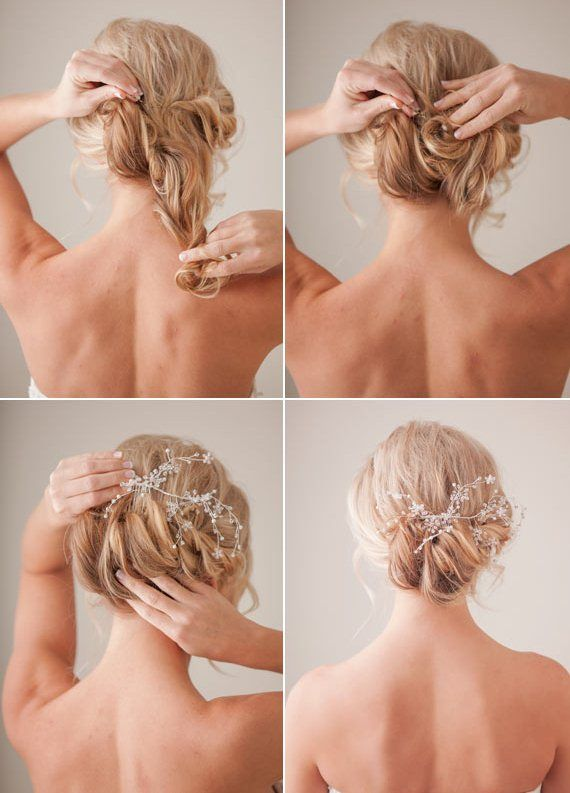 25 best hairstyles images on pinterest hair dos bridal hairstyles tender and feminine diy bridal hairstyle weddingomania solutioingenieria Image collections