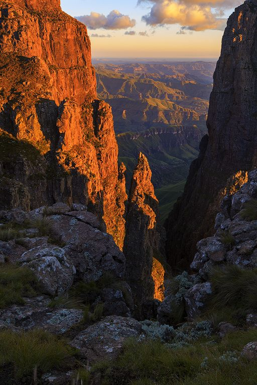 To the right of the almighty Umponjwana toward KZN Drakensberg, South Africa