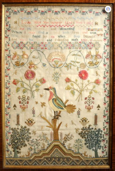 Witney Antiques: Antique samplers, needlework and silk pictures