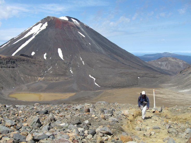 A last look back at Mt Ngauruhoe and South Crater