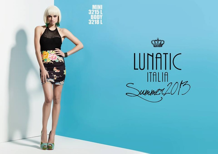 LUNATIC SUMMER COLLECTION 2013 FASHION WOMAN MADE IN ITALY print flower