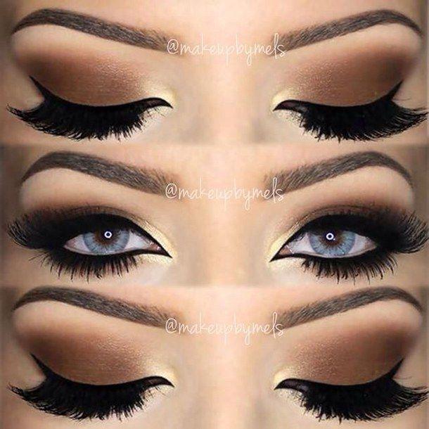 Beautiful Black Brown Cream Cute Eye Eye Makeup Eye