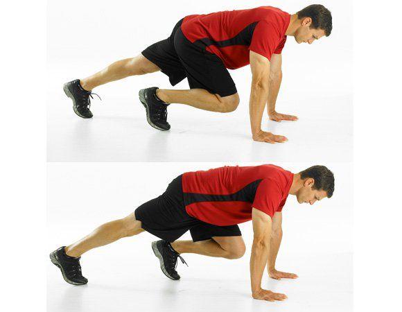 2. Mountain climber http://www.menshealth.com/fitness/10-flat-belly-exercises/slide/3