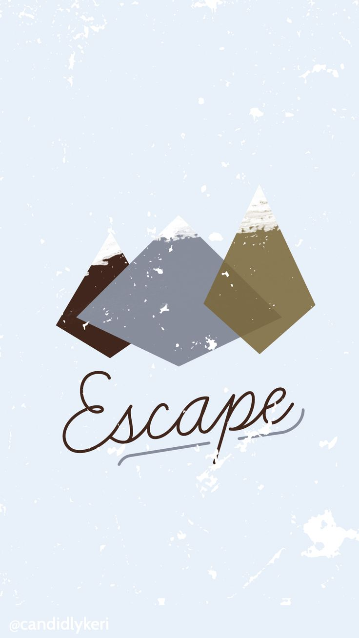 Escape cute mountain winter/fall scene wallpaper you can download for free on the blog! For any device; mobile, desktop, iphone, android!
