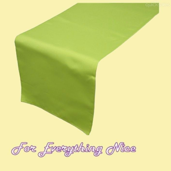 Sage Green Polyester Wedding Table Runners Decorations x 5 For Hire by J7339 - $30.00