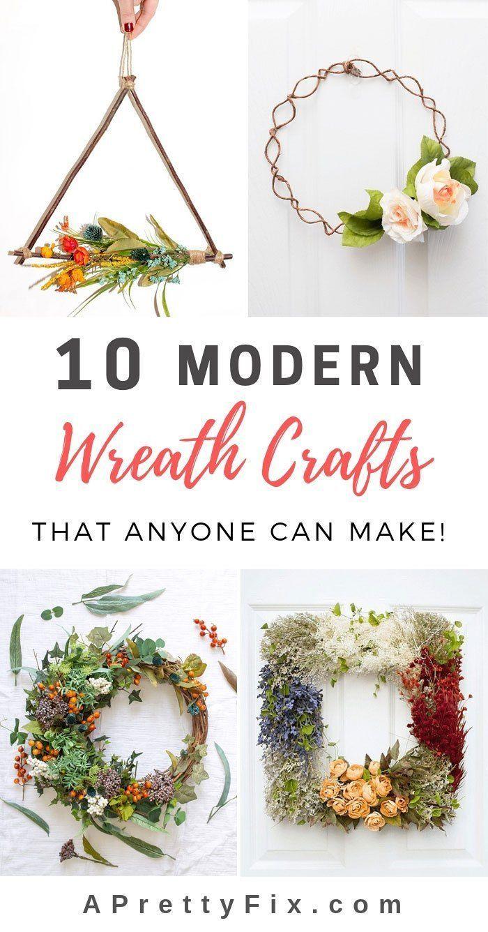 10 Modern Wreath DIYs (That Anyone Can Make)