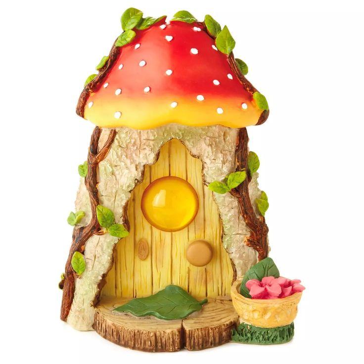 36 best fairy house painted rock images on pinterest for Hallmark fairy door