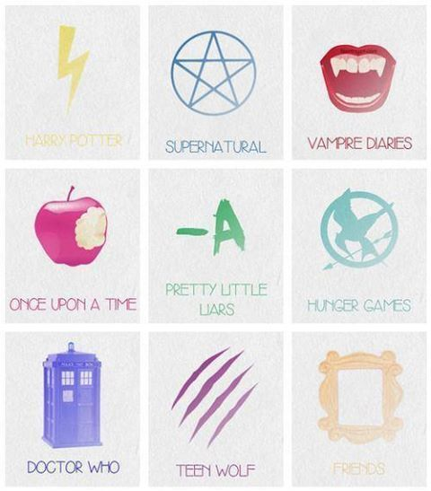 20. Harry Potter, Supernatural, Vampire Diaries, Pretty Uttle Liars, Hunger Games, Doctor Who, Teen Wolf, & Friends