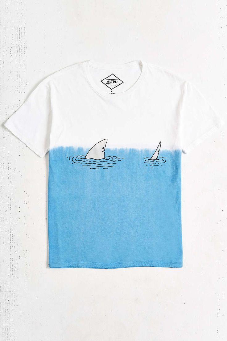 Altru Dip-Dye Shark Tee - Urban Outfitters