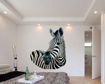 Zebra muur Decal Afrikaanse dier Stickers door AmandaCooldesigns