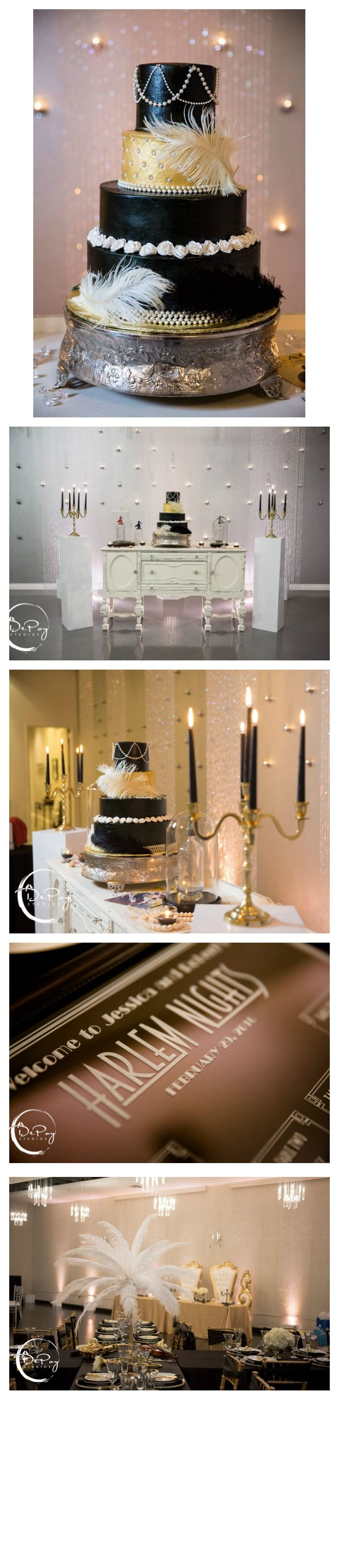 Rent ostrich feather centerpieces wedding amp party centerpiece rentals - These Photos From The Harlem Night Themed Wedding Are Gorgeous Our Ornate Baroque Statement Pieces