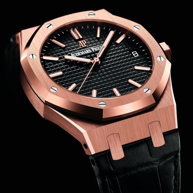 Audemars Piguet Royal Oak 41mm 18ct Rose Gold Automatic Black Dial