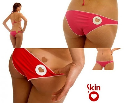 Heart Tanning Bikini DIY