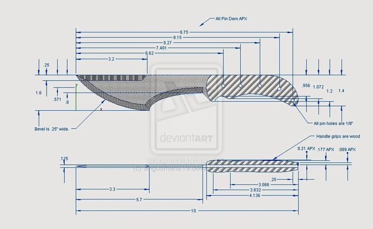 Knife Designs Patterns Drawings | Thread: Show me your ...