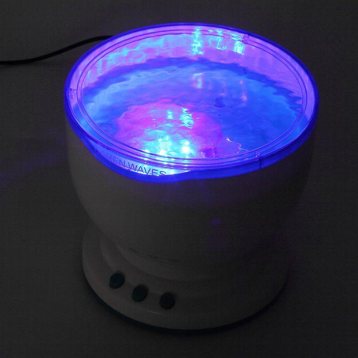 Купить товарМини из светодиодов ночной свет волны океана морской воды проектор проекционной лампы со спикером новизна подарок в категории Ночные светильникина AliExpress.                      100% новый                  Встроенный мини-динамик                  Размер: 135 мм x 135 мм