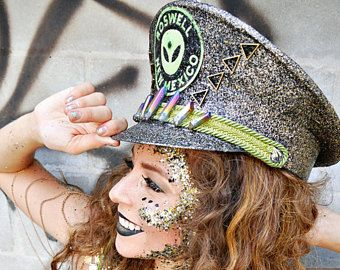 Roswell New Mexico, Burning Man hat, Festival Hat
