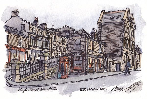 Derbyshire Open Arts - Paul Gent. High Street, New Mills.
