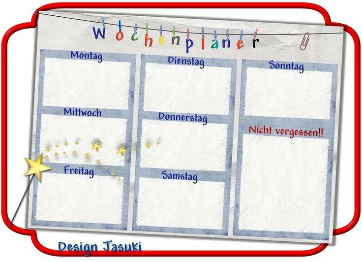 A4 Wochenplaner Haushaltsplaner laminiert  von Jasuki auf DaWanda.com