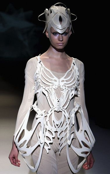 Skeleton Fashion - wearable art - skeletal dress with sculpted contours // SOMARTA