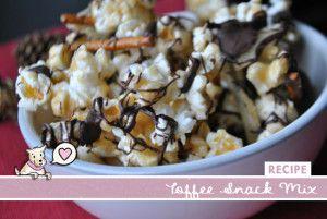 Toffee Popcorn Snack Mix