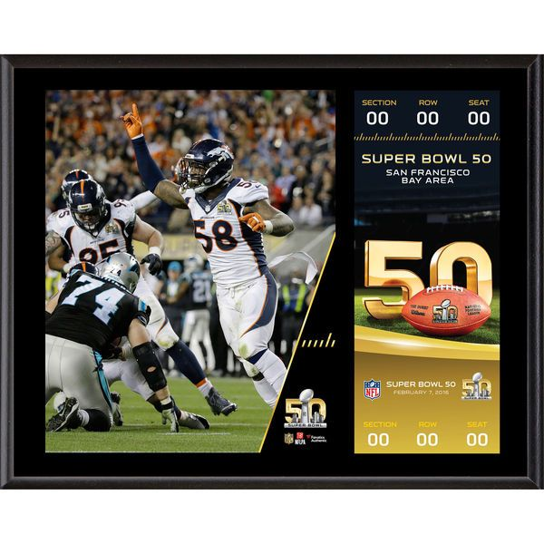"Denver Broncos Fanatics Authentic 12"" x 15"" Super Bowl 50 Champions Sublimated Plaque with Replica Ticket - $39.99"