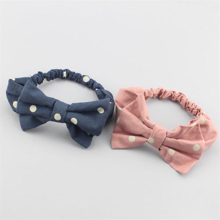 >> Click to Buy << Korean creative bow tie headband fashion Elastic high quality scarf Dots Rabbit ear Headwear girl Turban tiara infantil YL220 #Affiliate