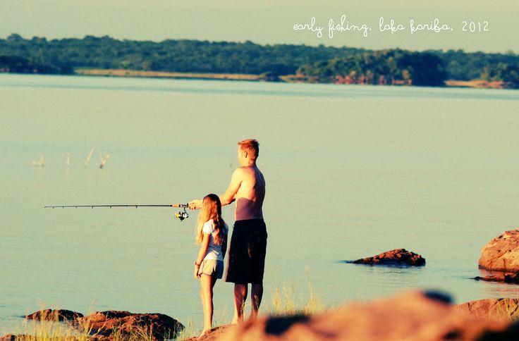 Emily and I fishing in Lake Kariba