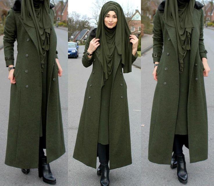"8,899 Likes, 157 Comments - Sümeyye Coktan  Onun Yari  (@hijab_is_my_diamond_official) on Instagram: ""Mal ganz in GRÜN ☺️ Hijab / Kopftuch / Basörtü - Jersey Schal  Jacket / Jacke / Ceket - Marke :…"""