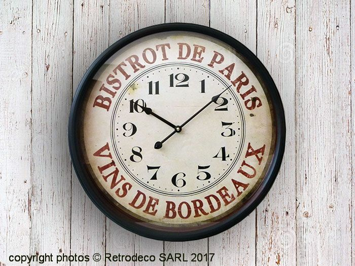 Les 25 meilleures id es concernant grande horloge sur - Tres grande horloge murale ...