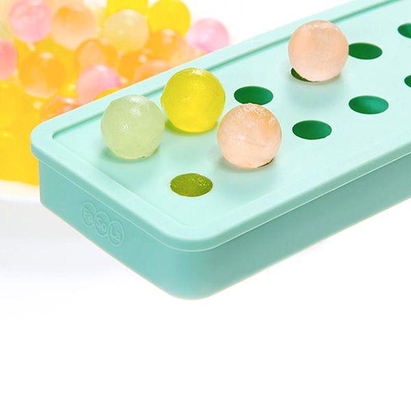 KCASA KC-ON430 Mini Silicone Ice Ball Ice Tray Cubes 20 Cavities DIY Pudding Jelly Chocolate Mold