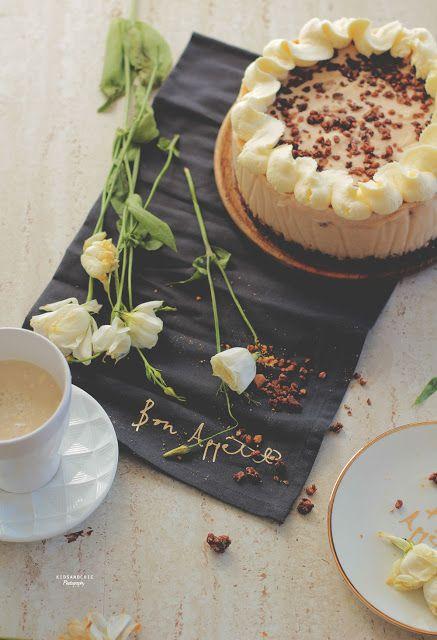 receta de tarta mousse crujiente de horchata sin horno