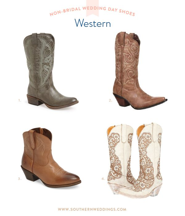 Add a western flair to your southern wedding with these boots!