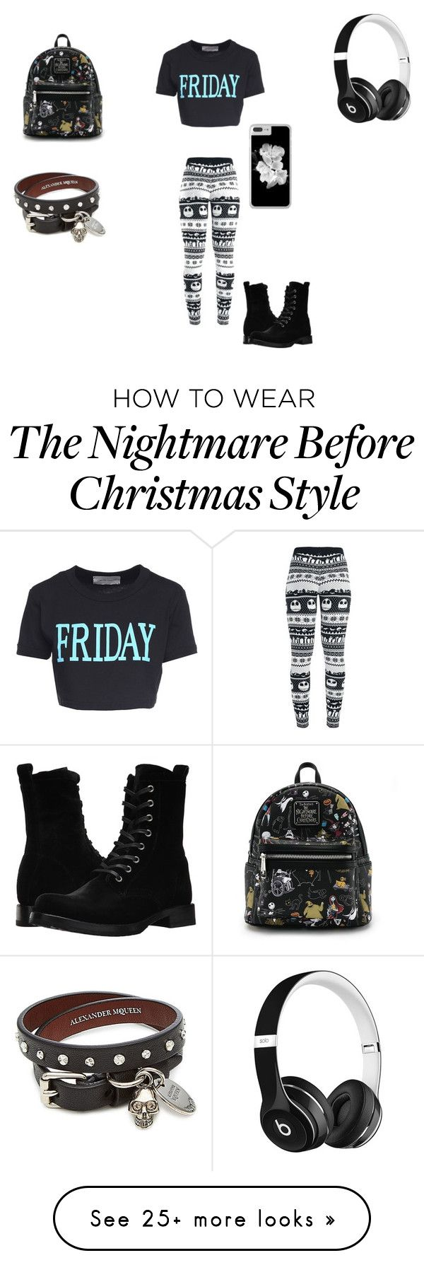 """""""Friday"""" by jaydin-lee on Polyvore featuring Alberta Ferretti, Frye, Loungefly, Beats by Dr. Dre and Alexander McQueen"""