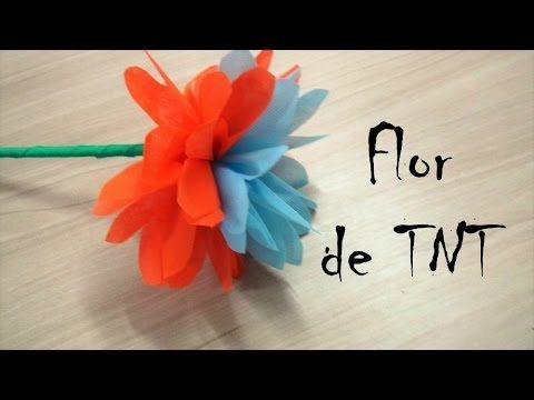 Flor de TNT - passo a passo #3