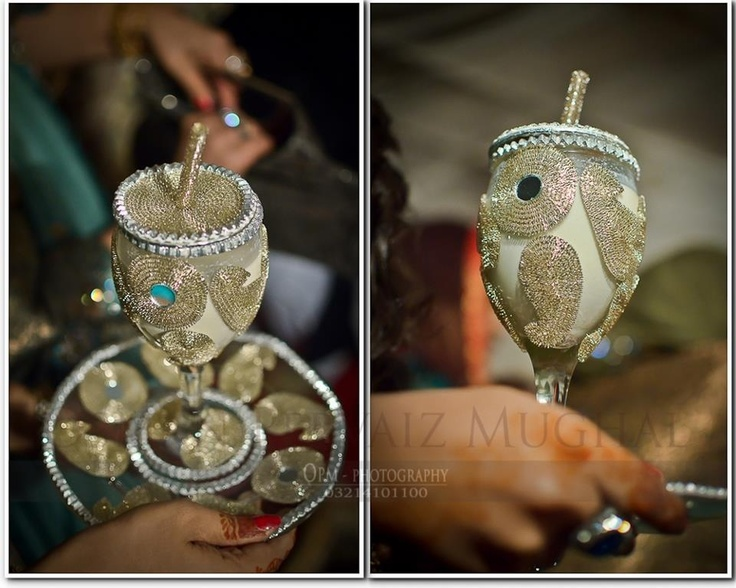 Mehndi Glass Decoration : Doodh pilai wedding rasam pinterest