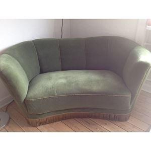 Sofa, velour, 2 pers., Sælg...