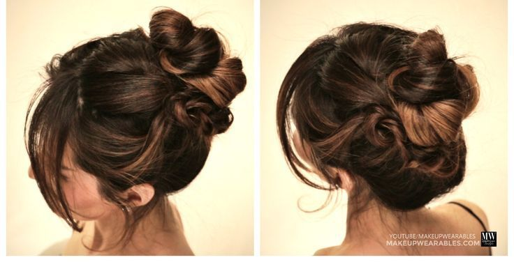 How to: Messy Cluster Bun #hairstyle