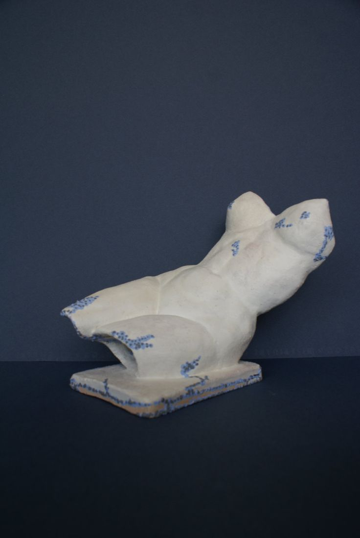 """Female figure """"Reclining woman"""", modern figurative ceramic artwork, abstract sculpture by Dellatola on Etsy"""