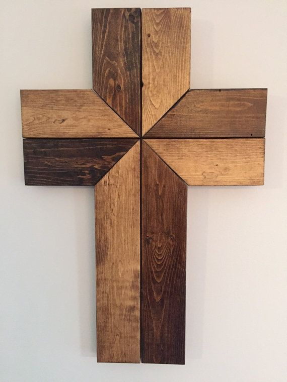 Wood Wall Cross Wood Cross Cross Wall Art by KinNixIndustrial