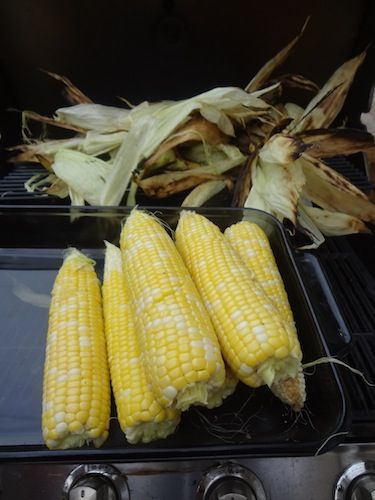 Grilled Corn in the Husk - Thrifty T's Treasures