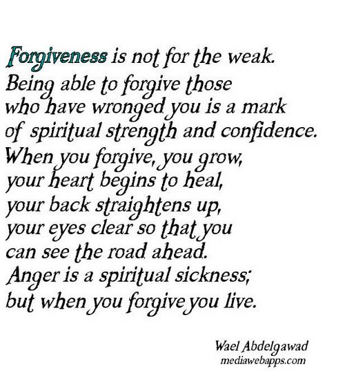 Alot of people think I should give up and move on with my life for being treated wrong a time or two. But forgiveness is key. I have a big heart and am willing to forgive and give second chances. yes it may be a risk, but i'm willing to take it!