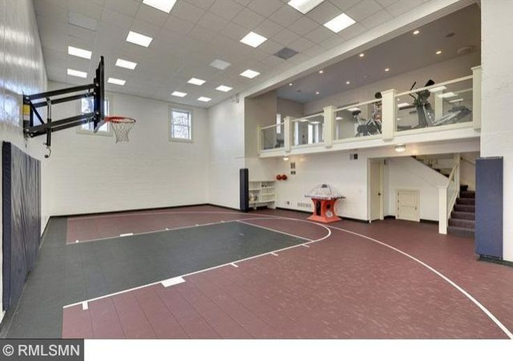 10 best sport court home gyms images on pinterest gym for Built in basketball court