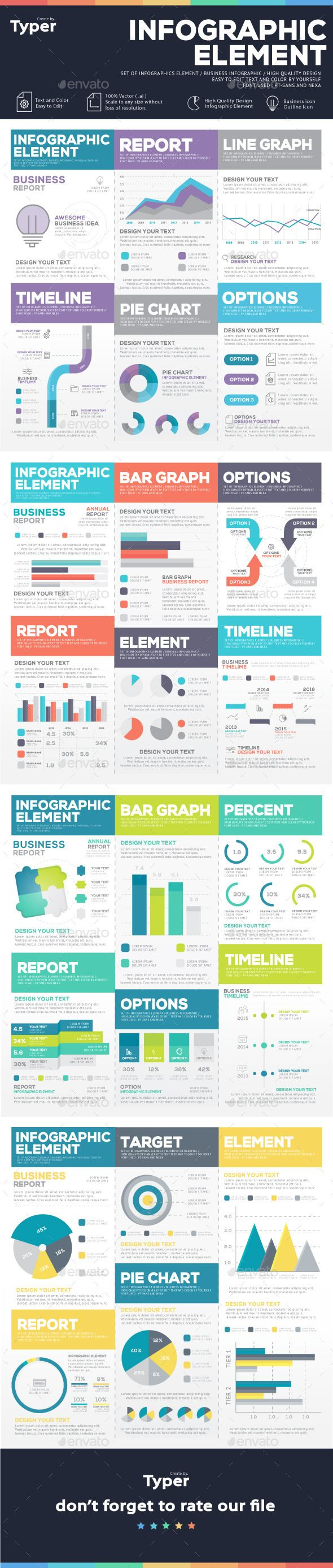 Infographic Vector Element Set — AI Illustrator #big #bundle • Available here → https://graphicriver.net/item/infographic-vector-element-set/10534198?ref=pxcr