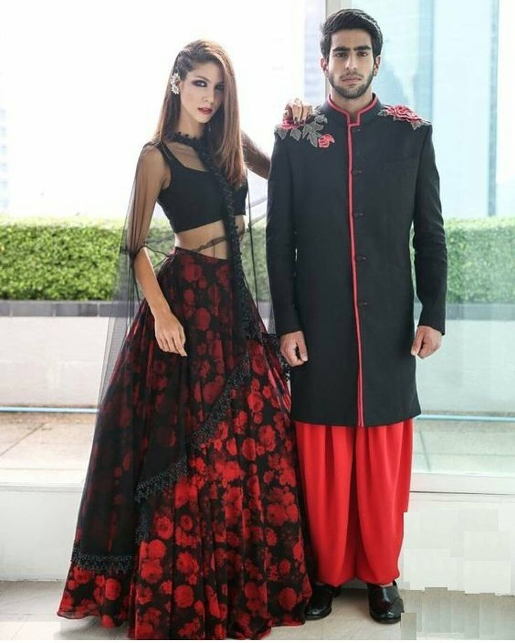 #lookoftheday Checkout this awesome red and black lehenga choli contains bhagalpuri silk made black blouse net dupatta and silk made red lehenga Available for just 1699 Shipping For order call / whatsapp : 91 9054562754