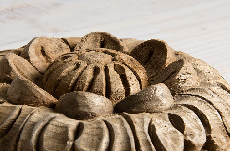 Our intricately carved flower decoration is a beautiful accessory to any wall. www.shf.co.za