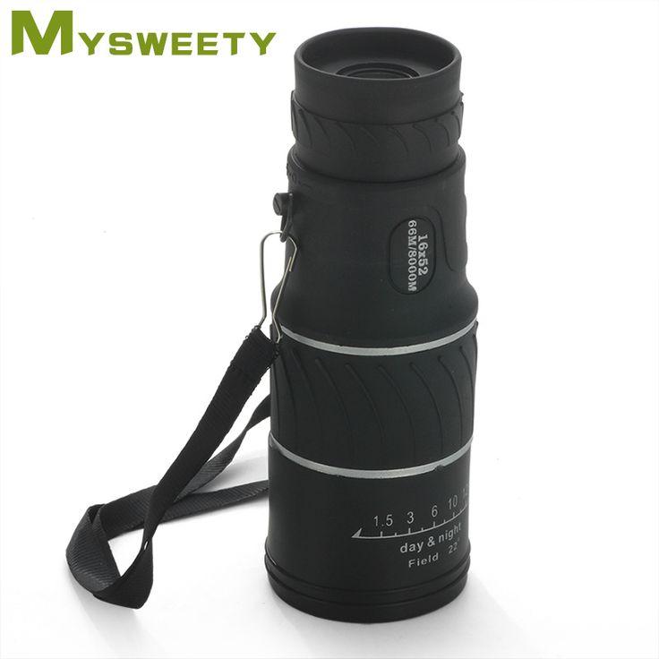 16x52 de Haute Qualité En Plein Air HD Jour et Nuit Vision Longue Portée Monoculaire Télescope.