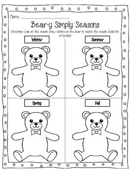 Common Core Science Support Worksheets for First Grade