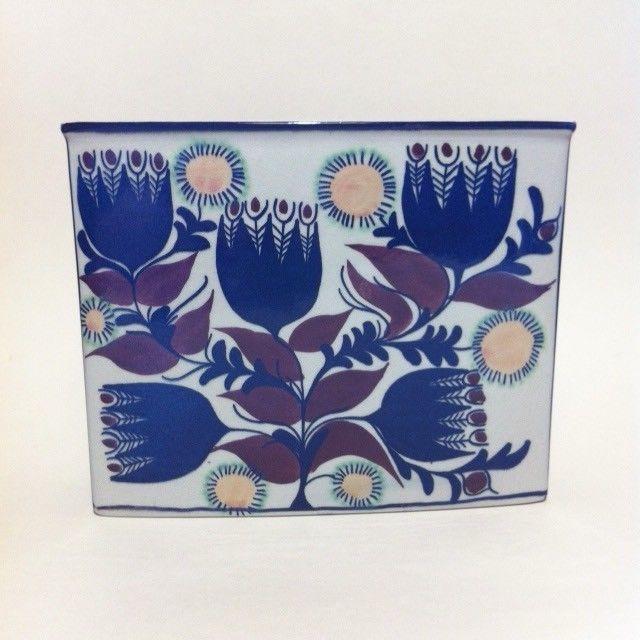 Mid Century Modern Royal Copenhagen Berte Jessen Art Pottery Vase Alien Flowers  #AluminumFaienceRoyalCopenhagen #MidCenturyModern