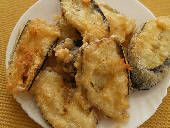 Greek appetizers: Greek Food Photos - Batter-fried Eggplant